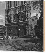 Vintage France Paris Notre Dame Cathedral 1970 Wood Print