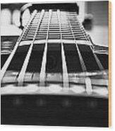 Bw Guitar Wood Print