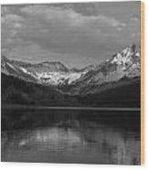 Bw Trout Lake Wood Print
