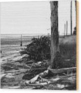Bwhurricane Damage Wood Print