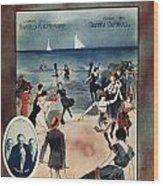 By The Beautiful Sea, 1914 Wood Print