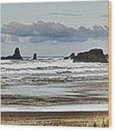 By The Sea - Seaside Oregon State  Wood Print