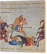 Byzantines Cavalrymen Pursuing The Rus Wood Print
