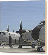 C-2a Greyhound Aircraft Start Wood Print