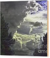 C Is For Clouds Wood Print