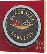 C1 Corvette Emblem Wood Print