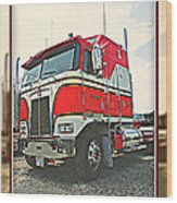 Cab-over Kenworth Wood Print