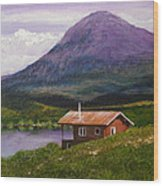 Cabin On Tangle Lake Wood Print