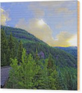Cabin On The Mountain - Vail Wood Print