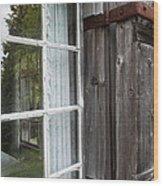Cabin Window Wood Print