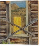 Cabin Windows Wood Print