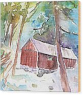 Cabine In The Troodos Mountains Wood Print