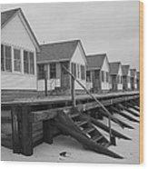 Cabins At Truro Wood Print