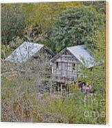 Cabins Wood Print