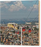 Cable Car Complex Wood Print by Ruy Barbosa Pinto