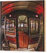 Cable Car Door Wood Print
