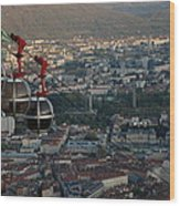 Cable Car In Grenoble  Wood Print