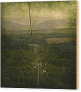 Cable Cars Wood Print