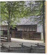 Cable Mill Barn Cades Cove Wood Print