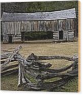 Cable Mill Barn In Cade's Cove No.122 Wood Print