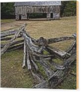 Cable Mill Barn In Cade's Cove No.123 Wood Print