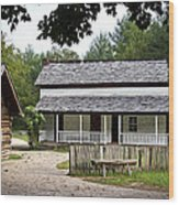 Cable Mill Home Place Cades Cove Wood Print by Mike Aldridge