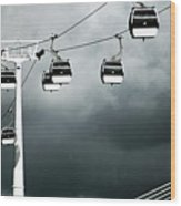 Cable Railway In Lisbon. Wood Print