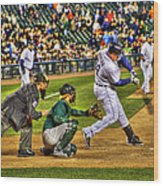 Cabrera Grand Slam Wood Print by Nicholas  Grunas