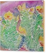 Cactus Color Wood Print by M C Sturman