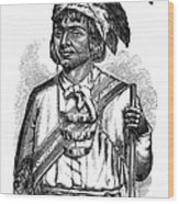 Caddo Chief, 1879 Wood Print