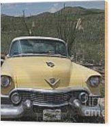 Caddy In The Desert Wood Print
