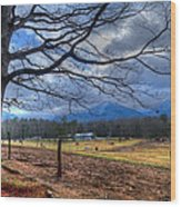 Cades Cove Lane Wood Print