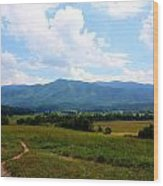 Cades Cove Wood Print by Susie Weaver