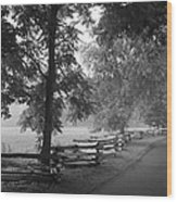 Cades Cove Tennessee In Black And White Wood Print