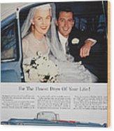 Cadillac Ad, 1955 Wood Print