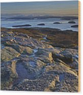 Cadillac Mountain And Frenchman's Bay Wood Print