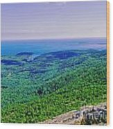 Cadillac Mt  Mt Desert Island Me Ocean View Wood Print