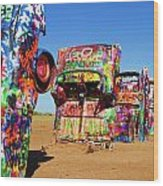 Cadillac Ranch 2  Wood Print