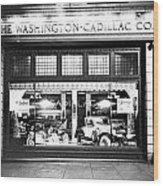 Cadillac Storefront, 1927 Wood Print