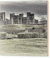 Caerphilly Castle Cream Wood Print