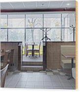 Cafe Dining Room Wood Print