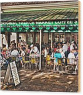 Cafe Du Monde Wood Print by Brenda Bryant
