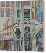 Cafe In Paris Wood Print