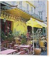 Cafe La Nuit Wood Print