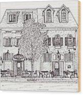 Cafe Mantic Wood Print