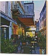 Cafe Terrace On The Place Du Forum Wood Print