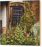 Cafe Window Wood Print