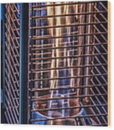Caged Fire Wood Print
