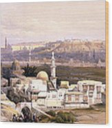 Cairo From The Gate Of Citizenib  Looking Toward The Desert Of Suez Wood Print