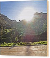 Cajas Mountains Sunset  Ecuador Wood Print